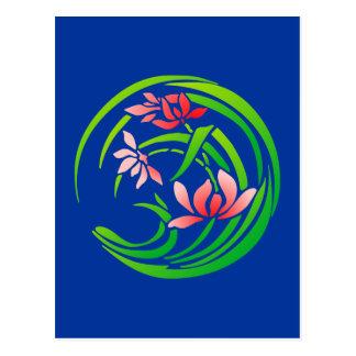 Japan flower sample more flower pattern postcard