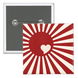 Japan Heart 2 Inch Square Button