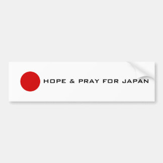 Japan - Hope Bumper Sticker