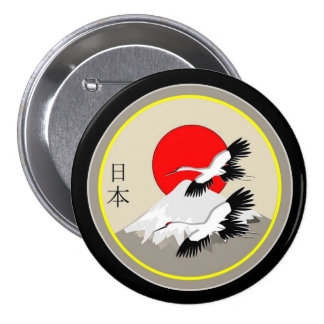 Japan Iconography 3 Inch Round Button