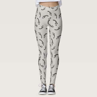Japan-inspired Koi Pattern Leggings