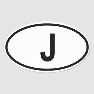 "Japan ""J"" Oval Sticker"
