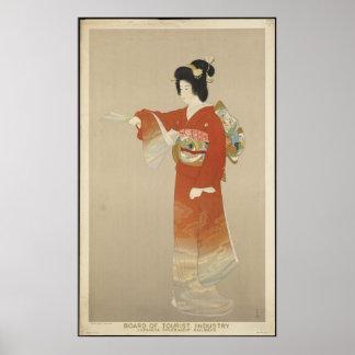 Japan Japanese Vintage Travel Poster Ad Retro