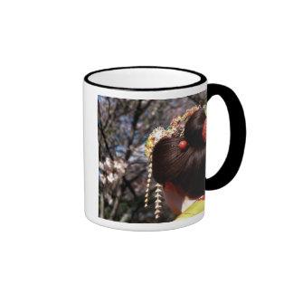 Japan, Kyoto. Rear view close-up of geisha's Ringer Coffee Mug