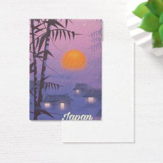 Japan landscape setting sun business card