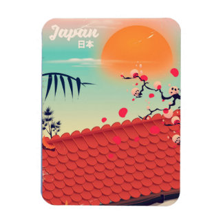 Japan Landscape travel poster Magnet