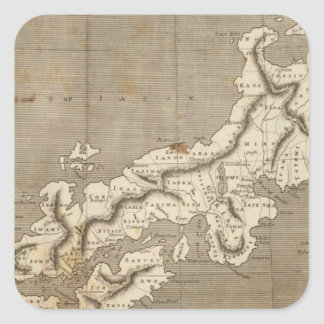 Japan Map by Arrowsmith Square Sticker