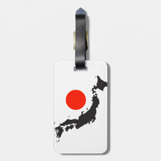 Japan map outline and circle luggage tag
