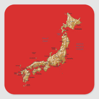 Japan Map Sticker