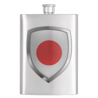 Japan Metallic Emblem Hip Flask