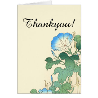 Japan Morning Glory Flowers Floral Thankyou Card