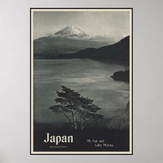 Japan Mount Fuji and Lake Motosu Poster