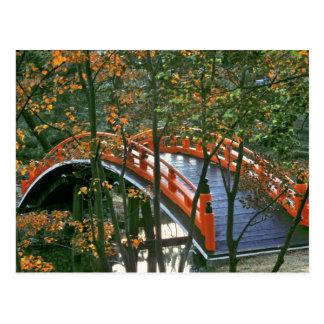 Japan, Nara Pref., Nara. The Royal Bridge glows Postcard