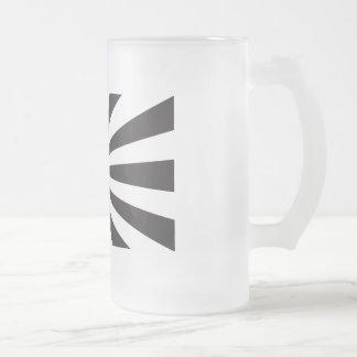 Japan Navy Flag - Black Frosted Glass Beer Mug