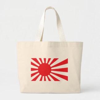 Japan Navy Flag - Red Large Tote Bag