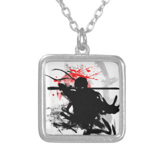 Japan Ninja Silver Plated Necklace