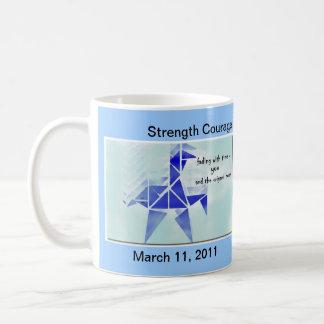 Japan Origami Horse Haiku Mug - earthquake relief