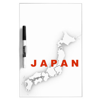 Japan Outline Map Dry Erase Board