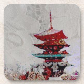 Japan Pagoda Lace Series Drink Coaster