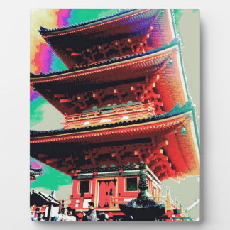 Japan Pagoda Psychedelic  Series Photo Plaque