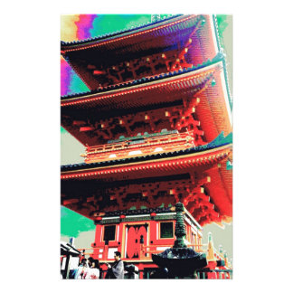 Japan Pagoda Psychedelic  Series Stationery Design