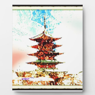 Japan Pagoda Temple Series Plaque