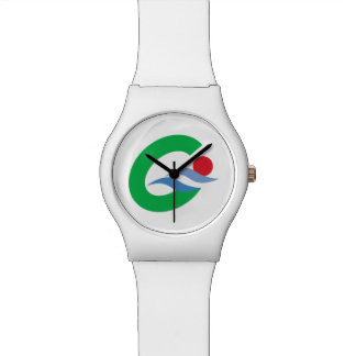 Japan Prefecture Flag. Wristwatch