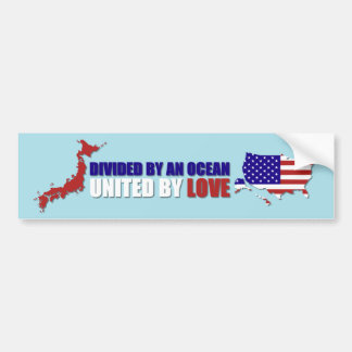 JAPAN RELIEF - UNITED BY LOVE BUMPER STICKER
