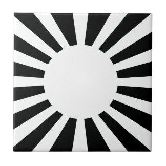 Japan Rising Sun Flag Tile