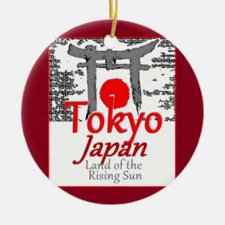 JAPAN ROUND CERAMIC ORNAMENT