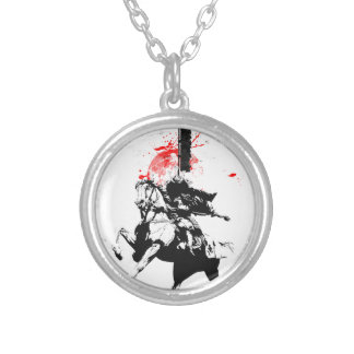 Japan Samurai Silver Plated Necklace
