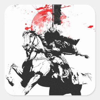 Japan Samurai Square Sticker