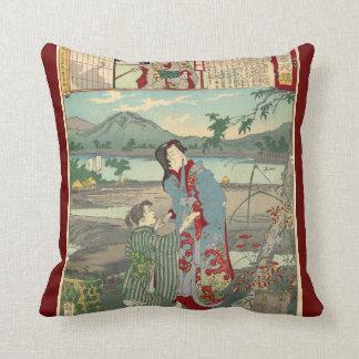 Japan - Sansho Dayu - Throw Pillow
