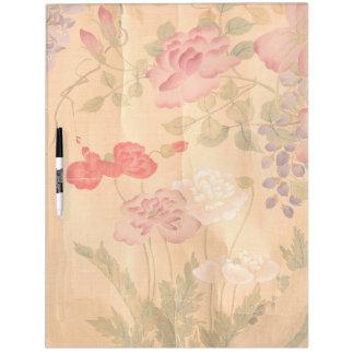 Japan Scroll Art Wisteria Rose Flower Floral Board Dry Erase Board