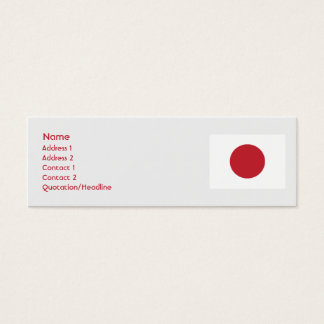 Japan - Skinny Mini Business Card
