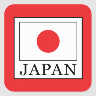 Japan Square Sticker