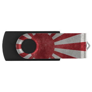 Japan sun flag metallic look USB flash drive