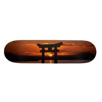 japan sunset skateboard deck