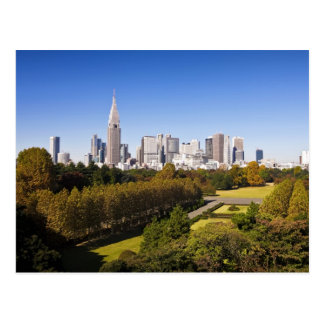 Japan. Tokyo. Shinjuku District Skyline and Postcard