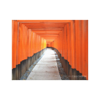 "Japan, Torii path wrapped canvas 14"" x 11"", 1.5"""