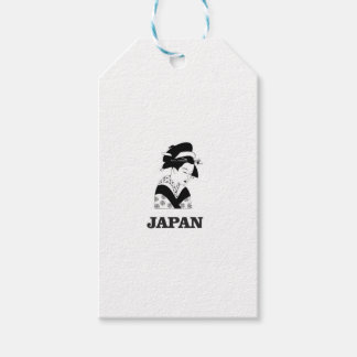 japan traditional woman pack of gift tags