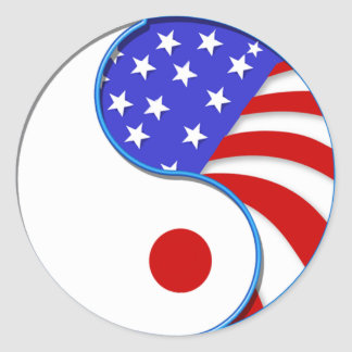 Japan USA Yinyang appeal sticker