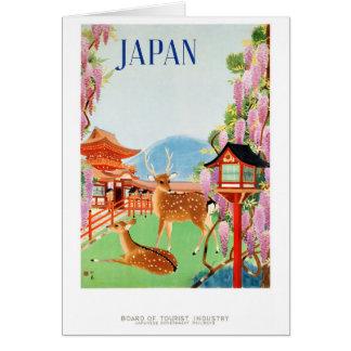Japan Vintage Travel Poster Restored Card