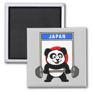 Japan Weightlifting Panda Magnet