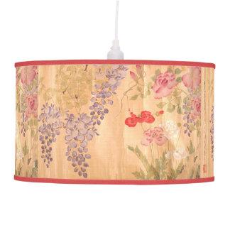 Japan Wisteria Roses Flowers Floral Pendant Lamp