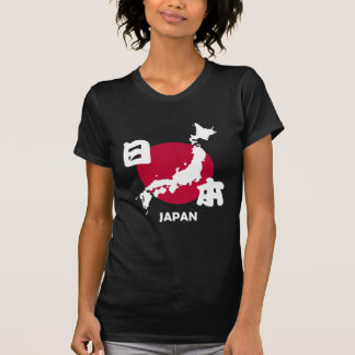 Japan with map and flag T-Shirt