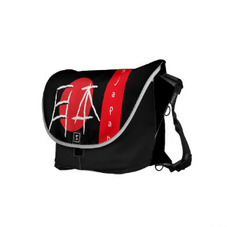 Japan Word in Japanese Font Courier Bags