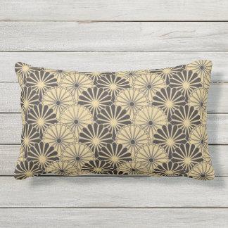 Japan. Yellow Floral Flowers. Lumbar Pillow