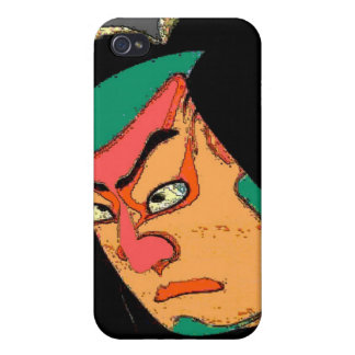 Japanese Abstract Face Covers For iPhone 4