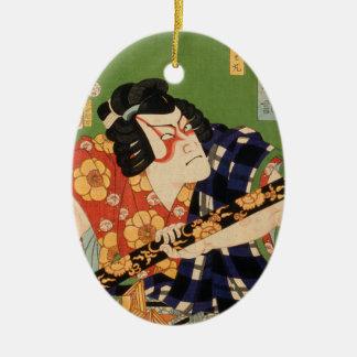 Japanese actor (#1) (Vintage Japanese print) Ceramic Ornament